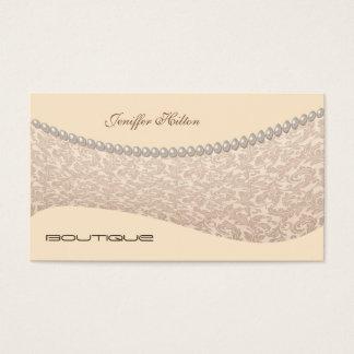 Lyx stillar damastast pärlor visitkort
