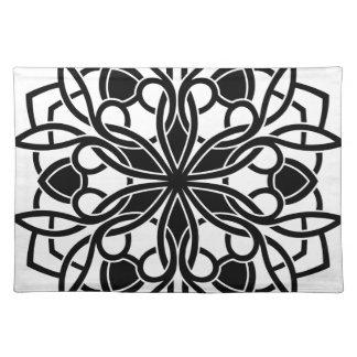Lyxig mandala för formgivare: blackwhite bordstablett