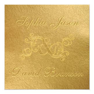 Lyxig Monogram för anpassningsbar för bröllop för Fyrkantigt 13,3 Cm Inbjudningskort