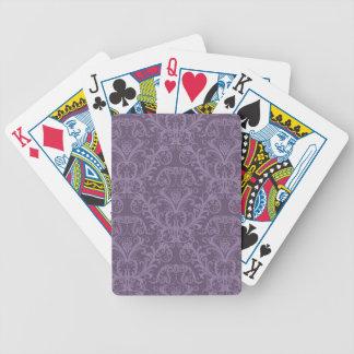 Lyxig purpurfärgad tapet spelkort