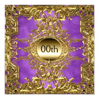 Lyxiga guld- lilor någon födelsedagsfest fyrkantigt 13,3 cm inbjudningskort