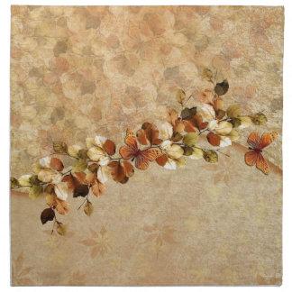 Lyxiga servetter för vintagehöstlöv