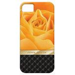 Lyxigt fodral för iPhone 5 för namn för gul rosw-a iPhone 5 Case-Mate Skal