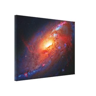 M106 spiral galax, käppar Venatici, rymden Canvastryck