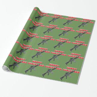 M4 vapen, god jul som slår in papper presentpapper