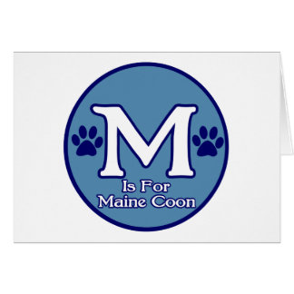 M är för den Maine coonen Hälsningskort
