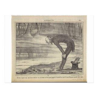 M. Coste av Honore Daumier Vykort