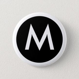 M-Monogramemblem knäppas Standard Knapp Rund 5.7 Cm