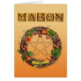 Mabon kran med Oakbrev Hälsningskort