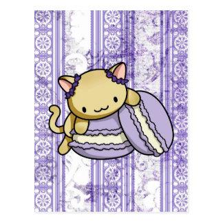 Macaron kattunge vykort