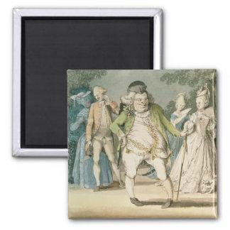 Macaronien, 1774 (w/c på papper) magnet