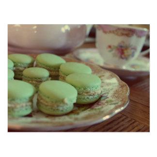Macarons för eftermiddagTeavykort Vykort