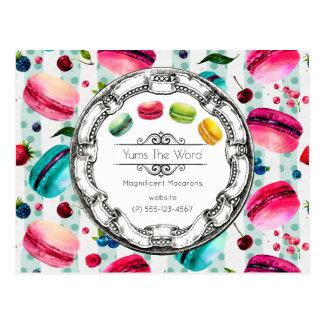 Macarons fransk bakelse i beställnings- vykort