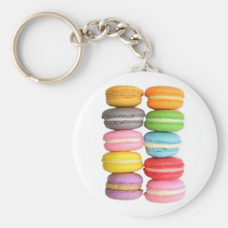 Macarons Rund Nyckelring