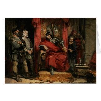 Macbeth som instruerar mördarna hälsningskort