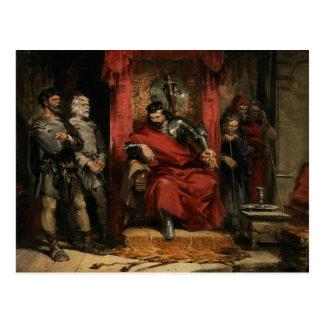 Macbeth som instruerar mördarna vykort