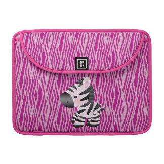 MacBook för tryck för sebra- & rosastruktur djur s MacBook Pro Sleeve
