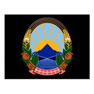 macedonia emblem vykort