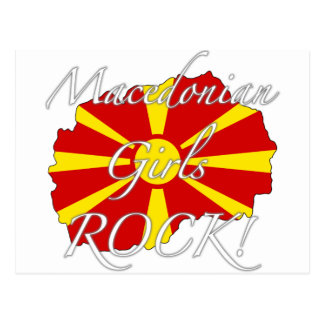 Macedonian flickasten! vykort