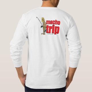 Macho logotyplångärmadutslagsplats t-shirt