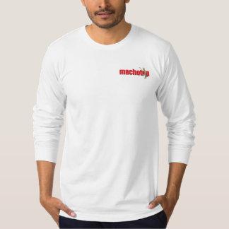 Macho logotyplångärmadutslagsplats tee shirts