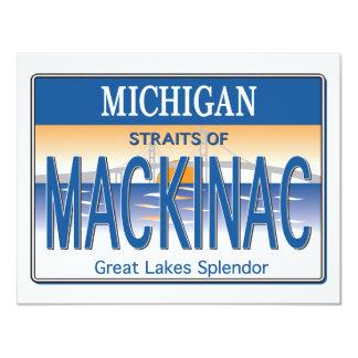 Mackinac licens 10,8 x 14 cm inbjudningskort