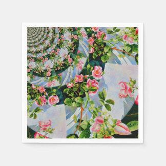 Mackinac rosa mandala pappersservett