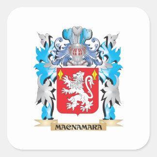 Macnamara vapensköld - familjvapensköld fyrkantigt klistermärke
