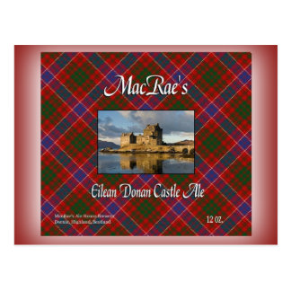 MacRaes öl för Eilean Donan slott Vykort