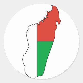 Madagascar flaggakarta runt klistermärke