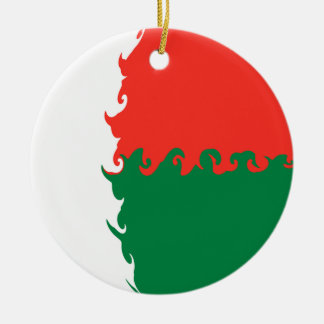 Madagascar Gnarly flagga Rund Julgransprydnad I Keramik
