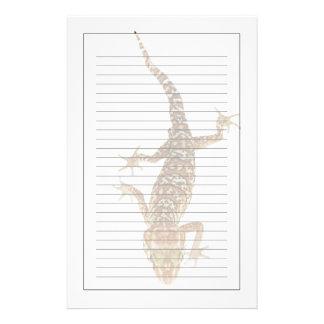 Madagascar malde på geckoen (den Paroedura pictuse Brevpapper