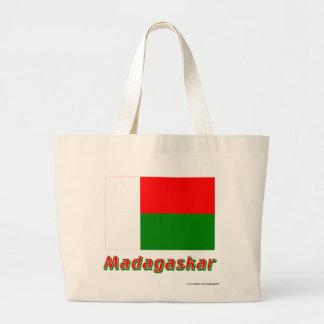 Madagaskar Flagge mit Namen Tygkasse