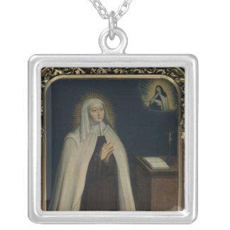 Madam Acarie som är bekant som Marie de l'Incarnat Silverpläterat Halsband