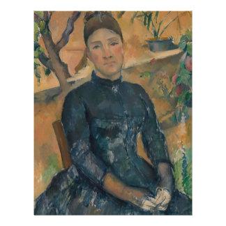 Madam Cézanne (Hortense Fiquet, 1850-1922) Brevhuvud