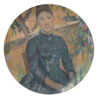 Madam Cézanne (Hortense Fiquet, 1850-1922) Fest Tallrikar