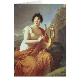 Madam de Stael som Corinne, 1809 Hälsningskort