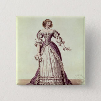 Madam Moliere, nee Armande Bejart Standard Kanpp Fyrkantig 5.1 Cm