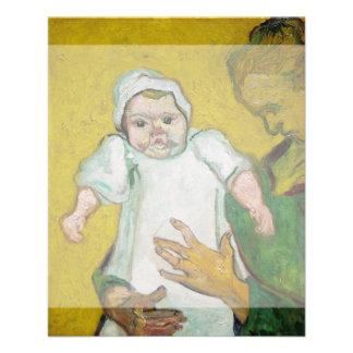 Madam Roulin med babyen av Vincent Van Gogh Personliga Flygblad