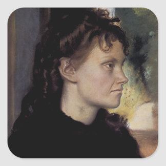 Madam Theodore Gobilliard (nee Yves Morisot) Fyrkantigt Klistermärke