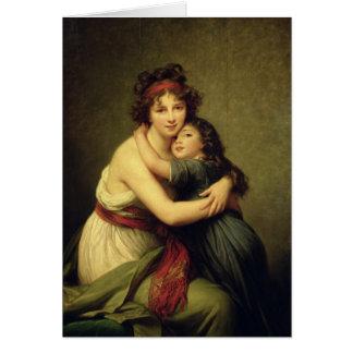 Madam Vigee-Lebrun och henne dotter Hälsningskort