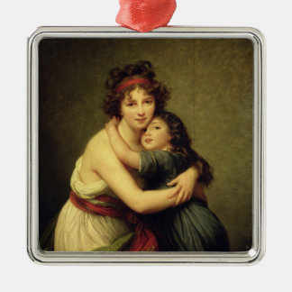 Madam Vigee-Lebrun och henne dotter Julgransprydnad Metall