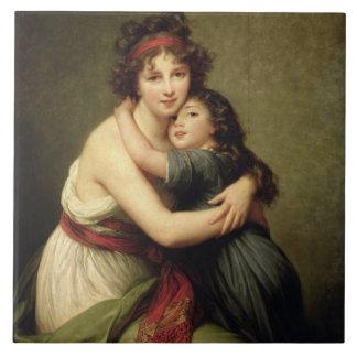 Madam Vigee-Lebrun och henne dotter Kakelplatta