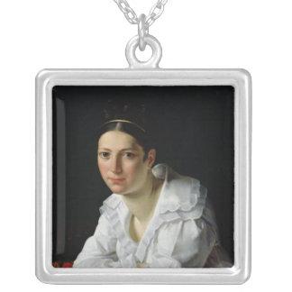 Madama Claude Marie Dubufe 1818 Silverpläterat Halsband