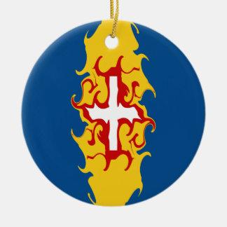 Madeira Gnarly flagga Rund Julgransprydnad I Keramik