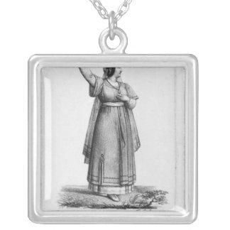 Mademoiselle George i rollen Silverpläterat Halsband