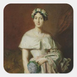 Mademoiselle Marie-Therese de Cabarrus, 1848 Fyrkantigt Klistermärke