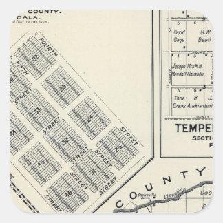 Madera County Kalifornien 3 Fyrkantigt Klistermärke