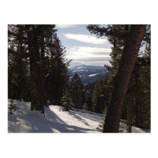 Madison berg i vinter i Montana Vykort