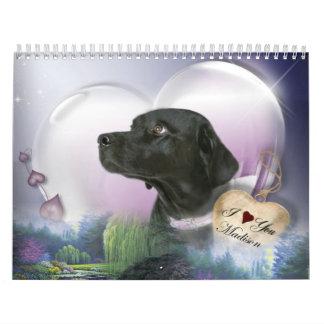 Madison den svart Labradoren Kalender